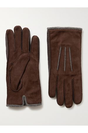 Loro Piana Herren Handschuhe - Damon Baby Cashmere-Lined Suede Gloves