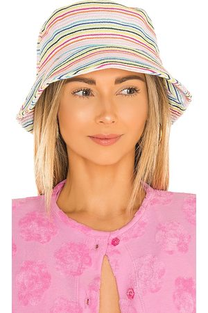 Lele Sadoughi X Solid & Striped Bucket Hat in ,Pink.