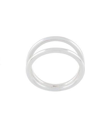 Eshvi Damen Ringe - Doppelter Ring - Metallisch
