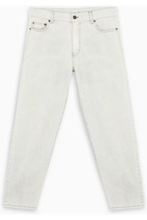 Saint Laurent Herren Cropped - Off white cropped jeans