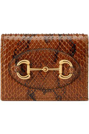 Gucci Horsebit 1955 Brieftasche aus Pythonleder