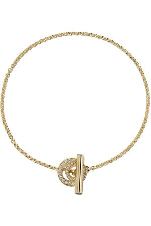 Georg Jensen Damen Armbänder - 18kt yellow Halo brilliant cut diamond bracelet