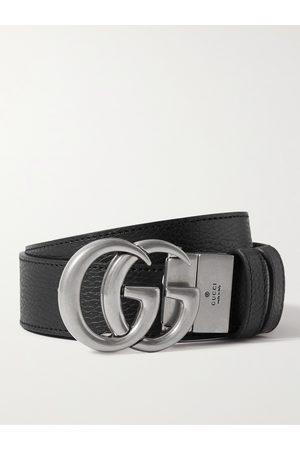 Gucci 3.5cm Reversible Full-Grain Leather Belt