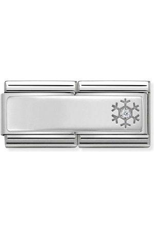 Nomination Accessoires - Classic - Compasable Classic Double- Gravurplatte mit Schneeflocke- 330730/04