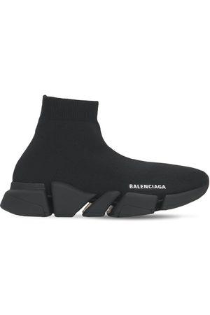 "BALENCIAGA 30mm Hohe Sneakers Aus Strick ""speed 2,0 Lt"""