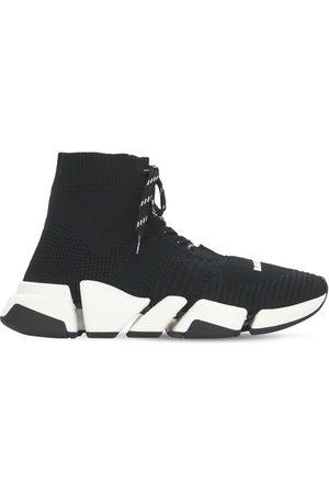 "BALENCIAGA 30mm Hohe Sneakers Aus Strick ""speed 2.0"""