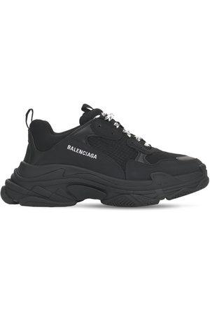 "BALENCIAGA Sneakers Aus Mesh, Wildleder Und Leder ""triple S"""