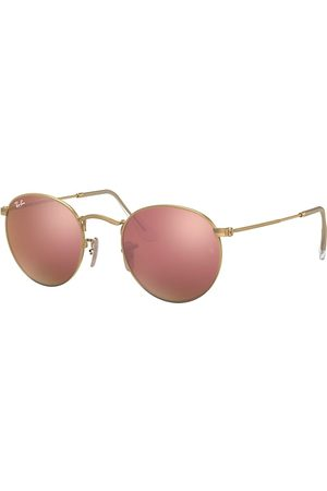 Ray-Ban Round Flash Lenses , Pink Lenses - RB3447