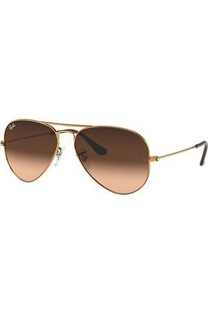 Ray-Ban Aviator Gradient Bronze-Kupfer, Pink Lenses - RB3025