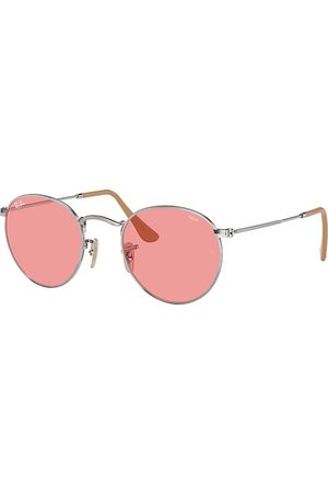 Ray-Ban Round Washed Evolve , Pink Lenses - RB3447