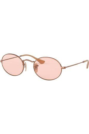 Ray-Ban Oval Washed Evolve Bronze-Kupfer, Pink Lenses - RB3547N