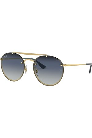 Ray-Ban Blaze Round Double Bridge , Blau Lenses - RB3614N