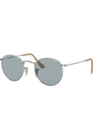 Ray-Ban Round Washed Evolve , Blau Lenses - RB3447