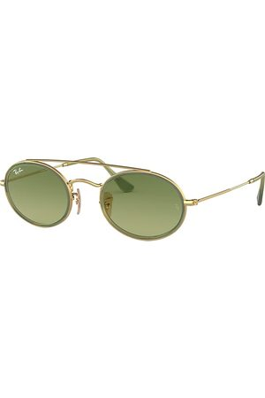 Ray-Ban Oval Double Bridge , Grün Lenses - RB3847N