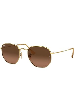 Ray-Ban Hexagonal Flat Lenses , Braun Lenses - RB3548N
