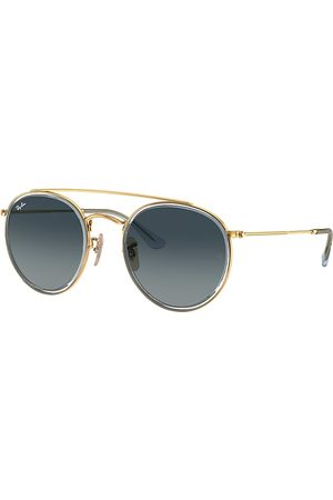 Ray-Ban Round Double Bridge , Blau Lenses - RB3647N