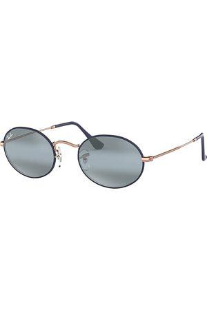 Ray-Ban Oval Bronze-Kupfer, Blau Lenses - RB3547