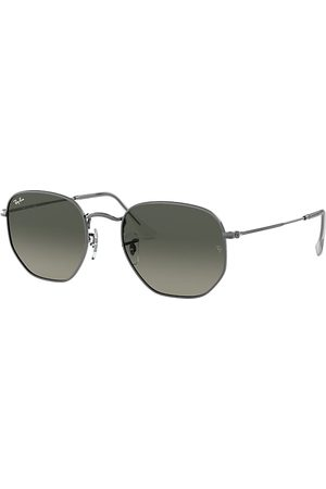 Ray-Ban Hexagonal Flat Lenses Gunmetal, Grau Lenses - RB3548N
