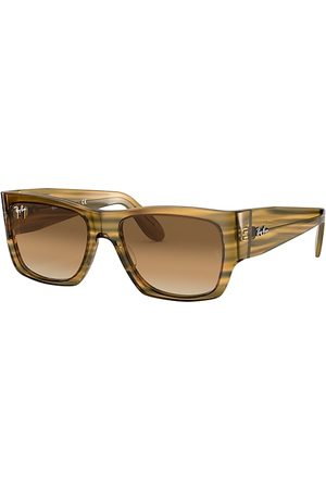 Ray-Ban Nomad Striped Yellow, Braun Lenses - RB2187