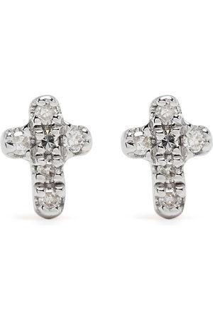 Djula 18kt Cross Gelbgoldohrringe mit Diamanten