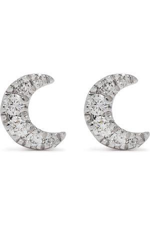 DJULA 18kt Moon Weißgoldohrringe mit Diamanten