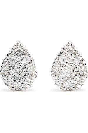 DJULA 18kt Pear Weißgoldohrringe mit Diamanten