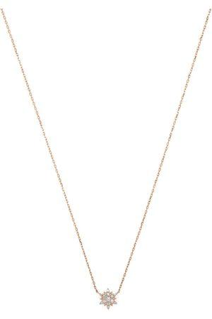 DJULA Damen Halsketten - 18kt Rotgoldkette mit weißen Diamanten