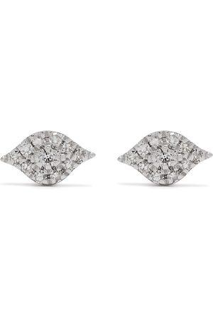 Djula Herren Ohrringe - 18kt Eye Weißgoldohrringe mit Diamanten