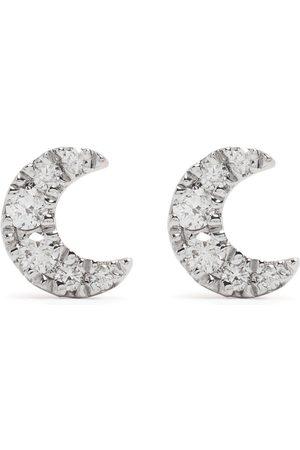 DJULA Herren Ohrringe - 18kt Moon Rotgoldohrringe mit Diamanten