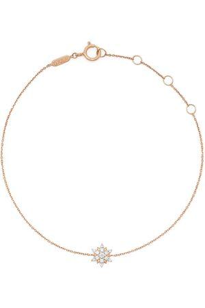 DJULA Damen Armbänder - 18kt Rotgoldarmband mit Diamantanhänger