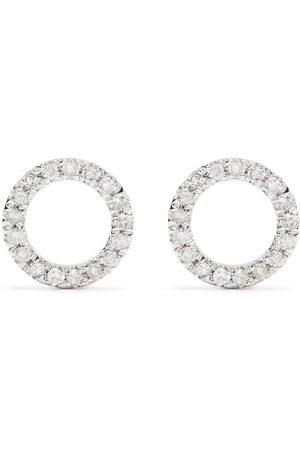 DJULA Herren Ohrringe - 18kt Circle Gelbgoldohrringe mit Diamanten