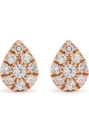 Djula Herren Ohrringe - 18kt Pear Rotgoldohrringe mit Diamanten