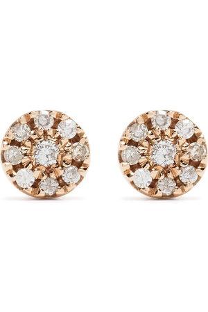 Djula Herren Ohrringe - 18kt Target Rotgoldohrringe mit Diamanten
