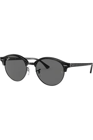 Ray-Ban Clubround Marble Wrinkled Black, Grau Lenses - RB4246