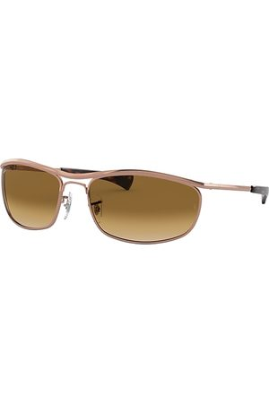 Ray-Ban Olympian I Deluxe Shiny Rose , Braun Lenses - RB3119M
