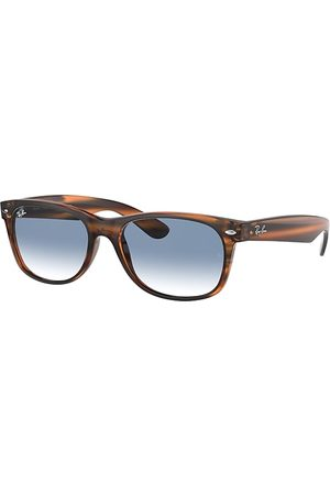 Ray-Ban New Wayfarer Color Mix gestreift, Blau Lenses - RB2132