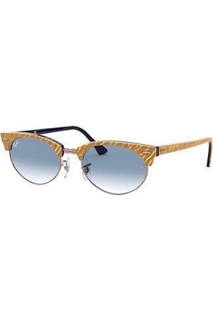 Ray-Ban Clubmaster Oval Wrinkled , Blau Lenses - RB3946