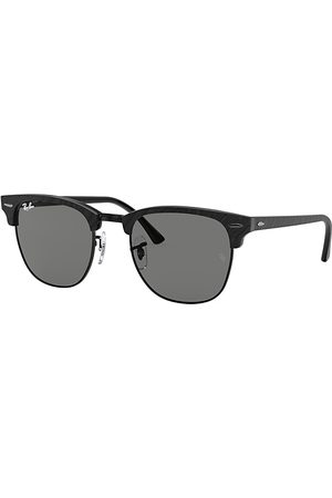 Ray-Ban Clubmaster Marble Wrinkled Black, Grau Lenses - RB3016