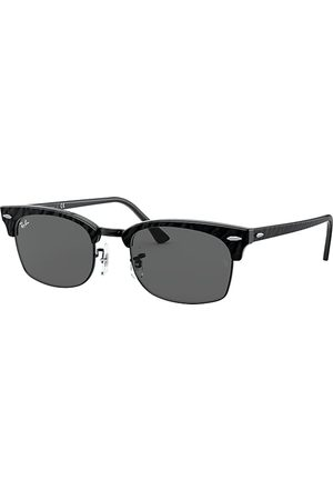 Ray-Ban Clubmaster Square Wrinkled Black, Grau Lenses - RB3916