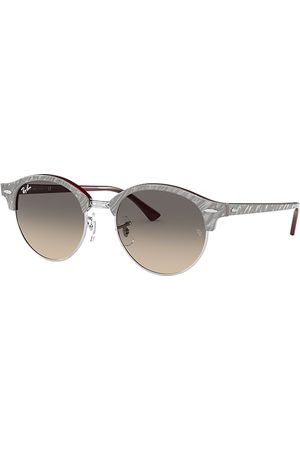 Ray-Ban Clubround Marble Wrinkled Light Grey, Lenses - RB4246