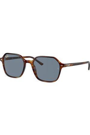 Ray-Ban Sonnenbrillen - John Havana gestreift, Blau Lenses - RB2194