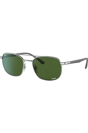 Ray-Ban Rb3670 Chromance Sand , Polarized Grün Lenses - RB3670CH