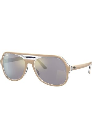Ray-Ban Sonnenbrillen - Powderhorn Mirror Evolve Hellbraun, Grau Lenses - RB4357