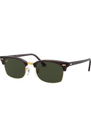 Ray-Ban Clubmaster Square Legend Gold Mock Tortoise, Grün Lenses - RB3916