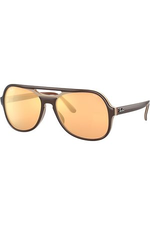 Ray-Ban Powderhorn Mirror Evolve , Orange Lenses - RB4357