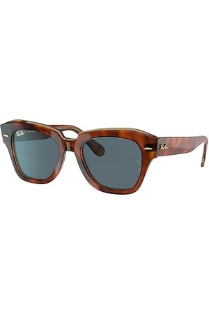 Ray-Ban State Street @collection Havana On Transparent , Blau Lenses - RB2186