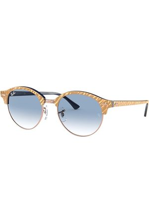 Ray-Ban Clubround Marble Wrinkled , Blau Lenses - RB4246