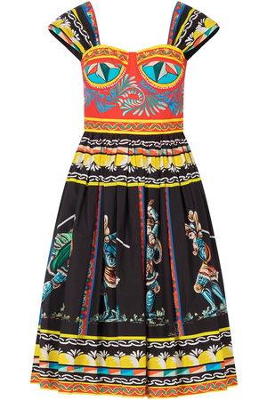 Dolce & Gabbana Knielanges Kleid mit Print-Mix