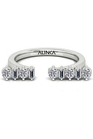 ALINKA Damen Ringe - 18kt Weißgoldring mit Diamanten