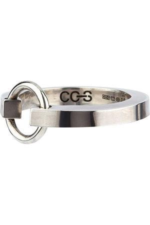 CC-Steding Kantiger Ring aus Sterlingsilber